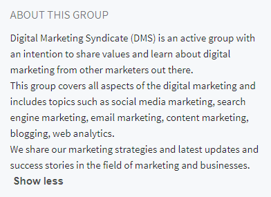 LinkedIn-group-description