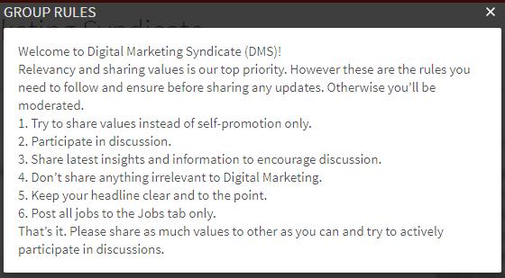 LinkedIn-Group-rules